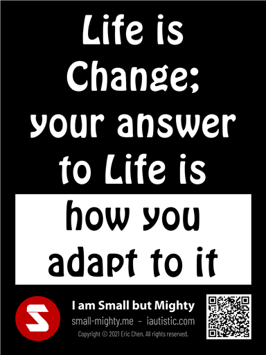 Your answer to Life is how you adapt to it