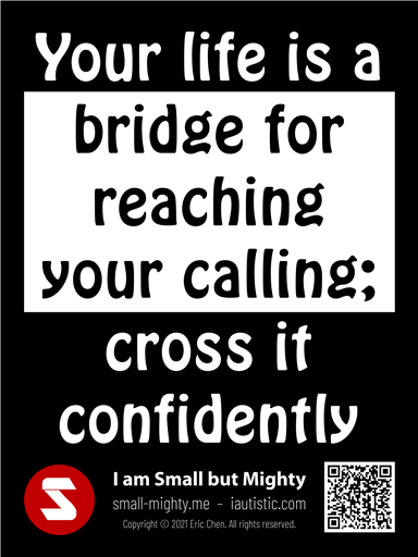 Your life is a bridge for reaching your calling